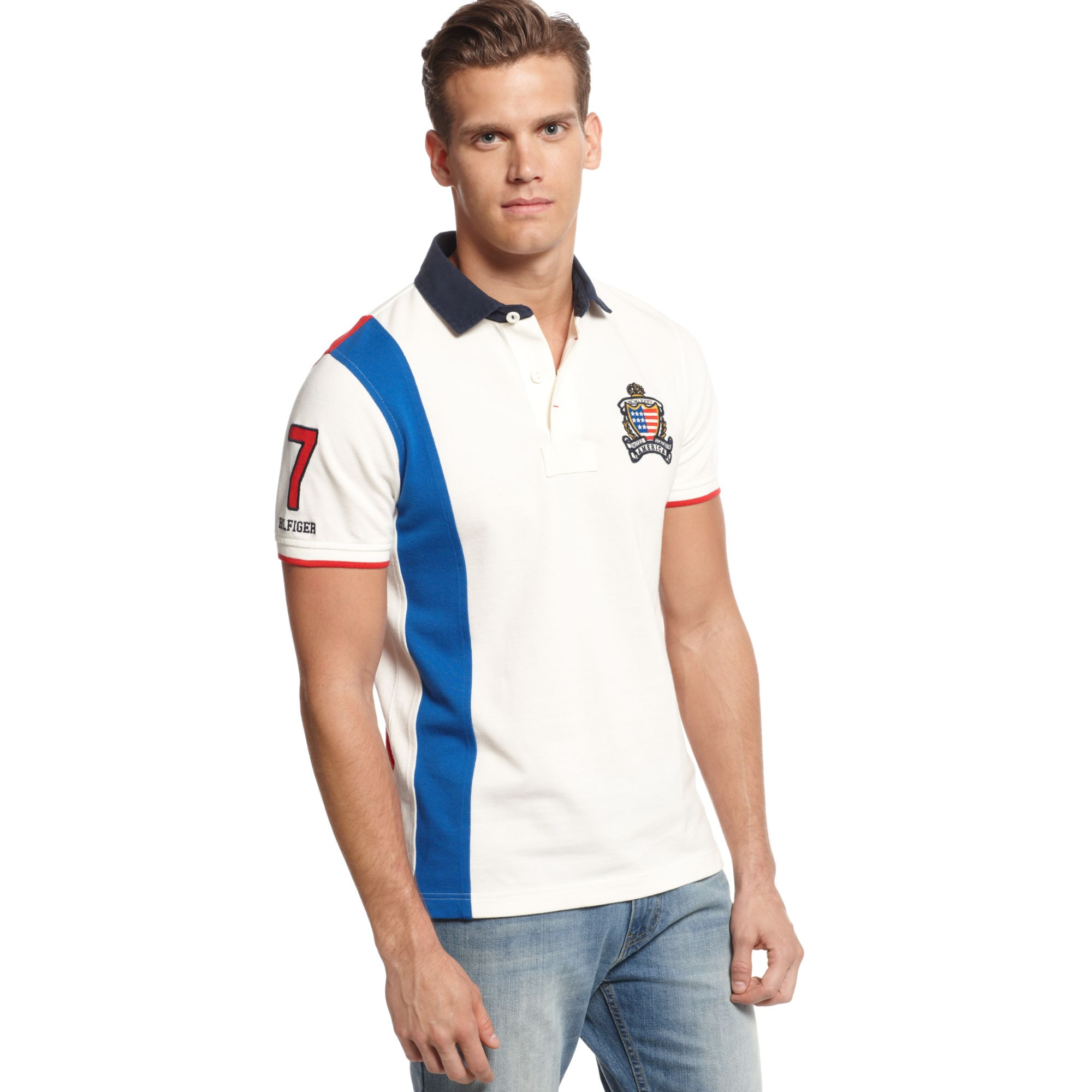 04ab22ca2 Tommy Hilfiger Usa World Cup Slimfit Polo European Collection in ...