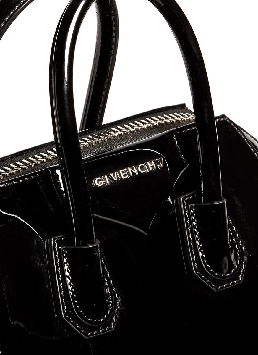 5461018e29 Givenchy 'antigona' Mini Patent Leather Bag in Black - Lyst