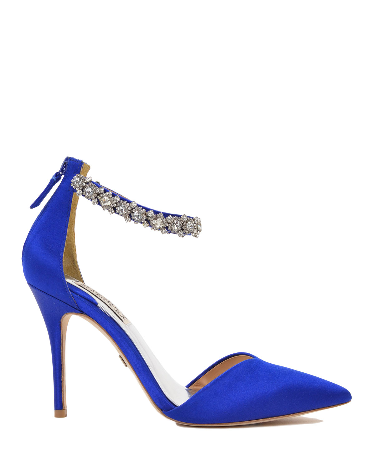 Blue High Heels With Ankle Strap