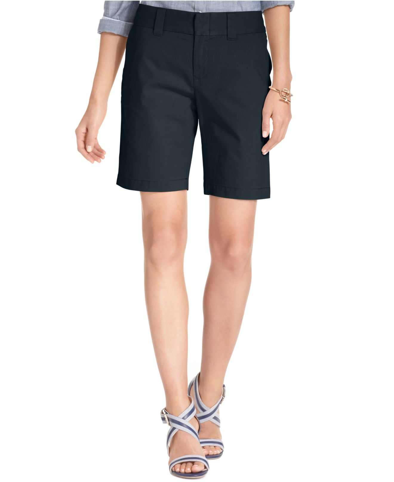 tommy hilfiger hollywood bermuda shorts only at macy 39 s in blue masters navy save 14 lyst. Black Bedroom Furniture Sets. Home Design Ideas