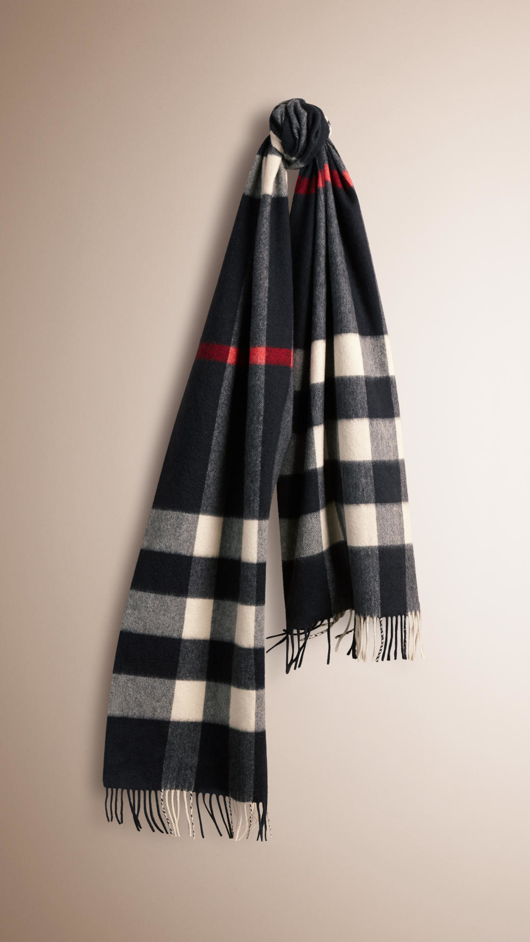 a3f8718ec71 ... store lyst burberry the classic cashmere scarf in giant exploded check  3c5d9 7cc44