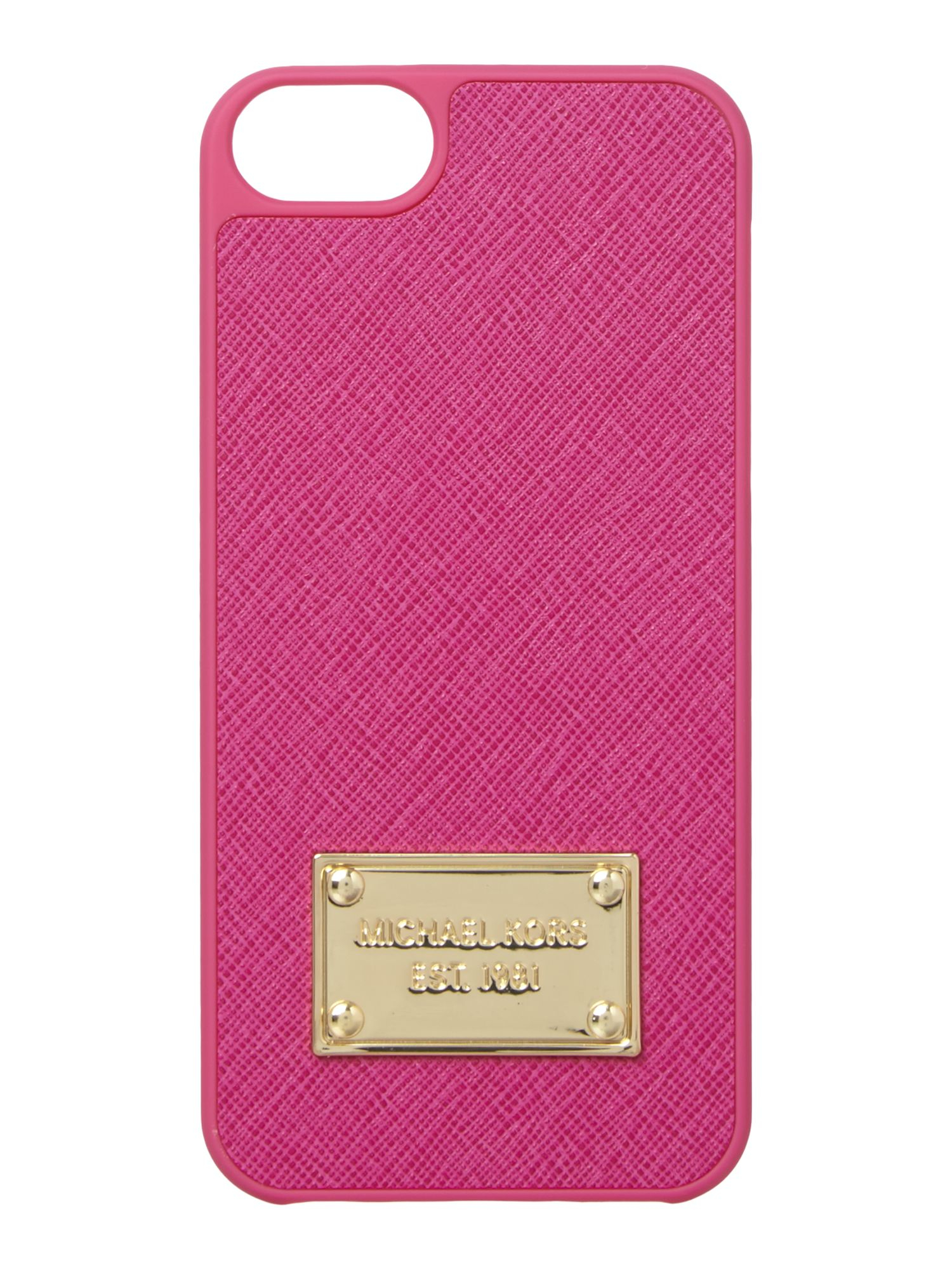 michael kors pink phone cover iphone 5 in pink lyst. Black Bedroom Furniture Sets. Home Design Ideas