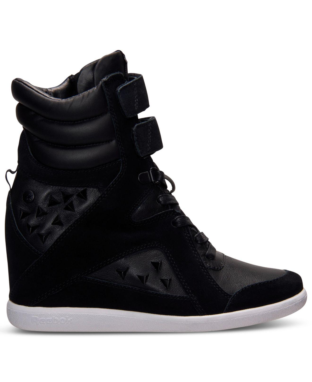 19f238d156b2 Lyst - Reebok Women S Alicia Keys Wedge Casual Sneakers From Finish ...