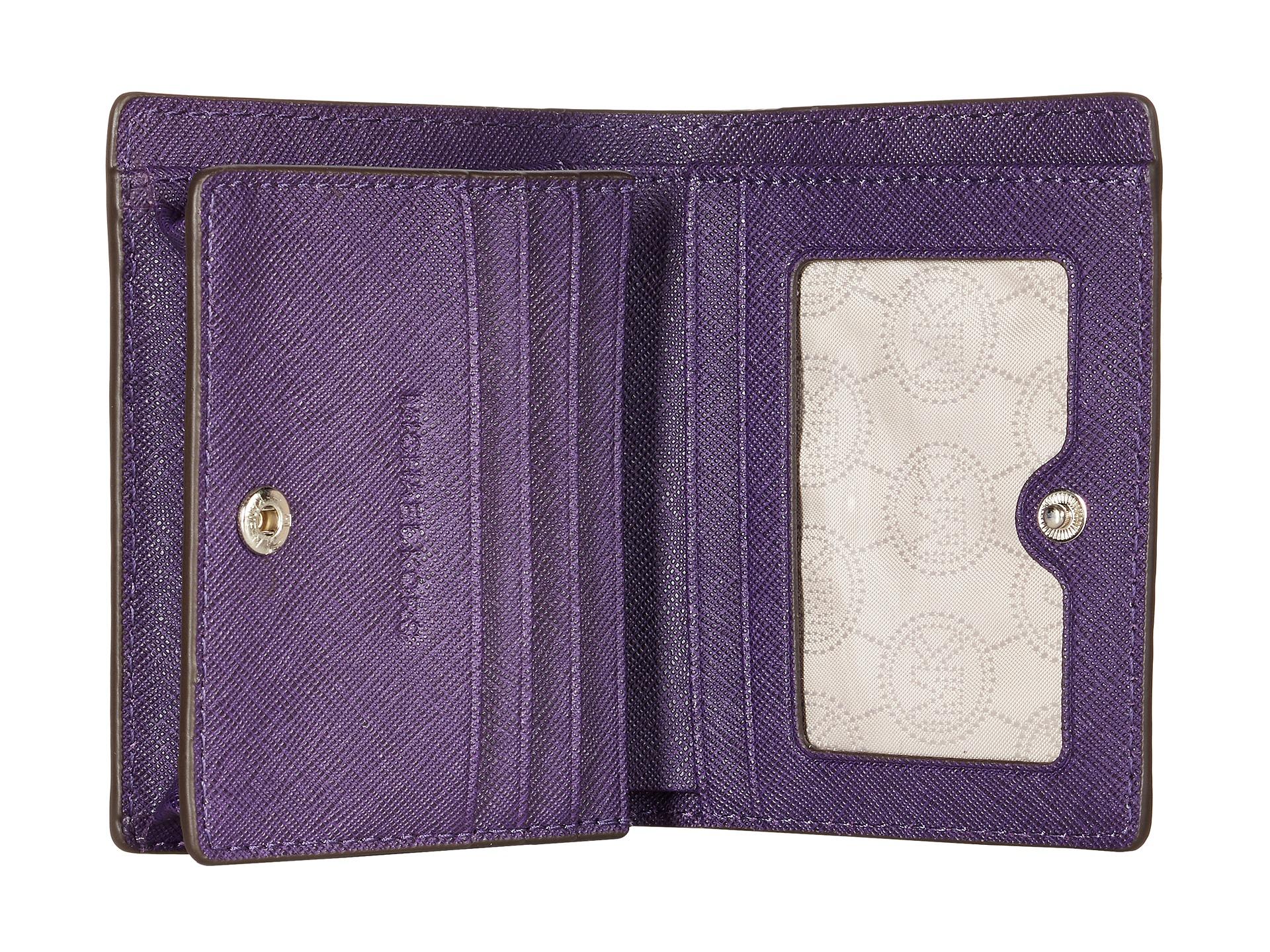 4c75ffb8a2fec9 MICHAEL Michael Kors Jet Set Travel Flap Card Holder in Purple - Lyst