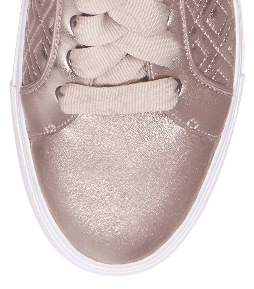 88147ef140664 Lyst - Tory Burch Marion Quilted Metallic Sneaker in Pink