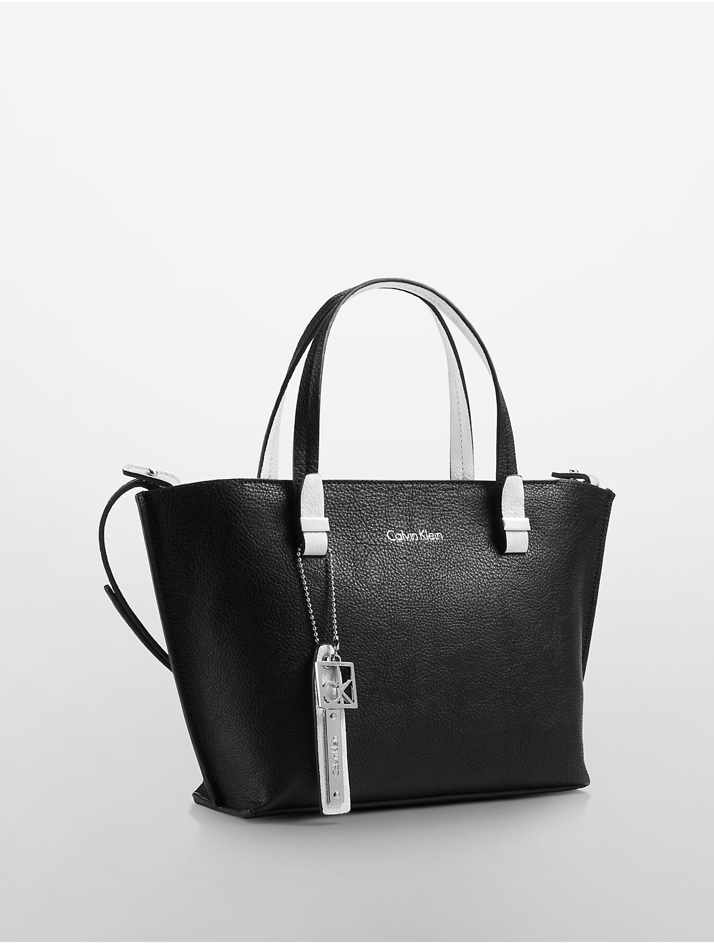 Lyst Calvin Klein White Label Haley Studio Tote In Black
