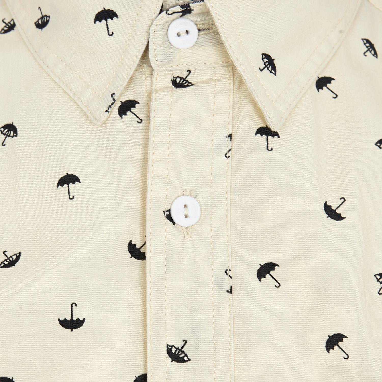 river island ecru tokyo laundry umbrella print shirt in natural lyst