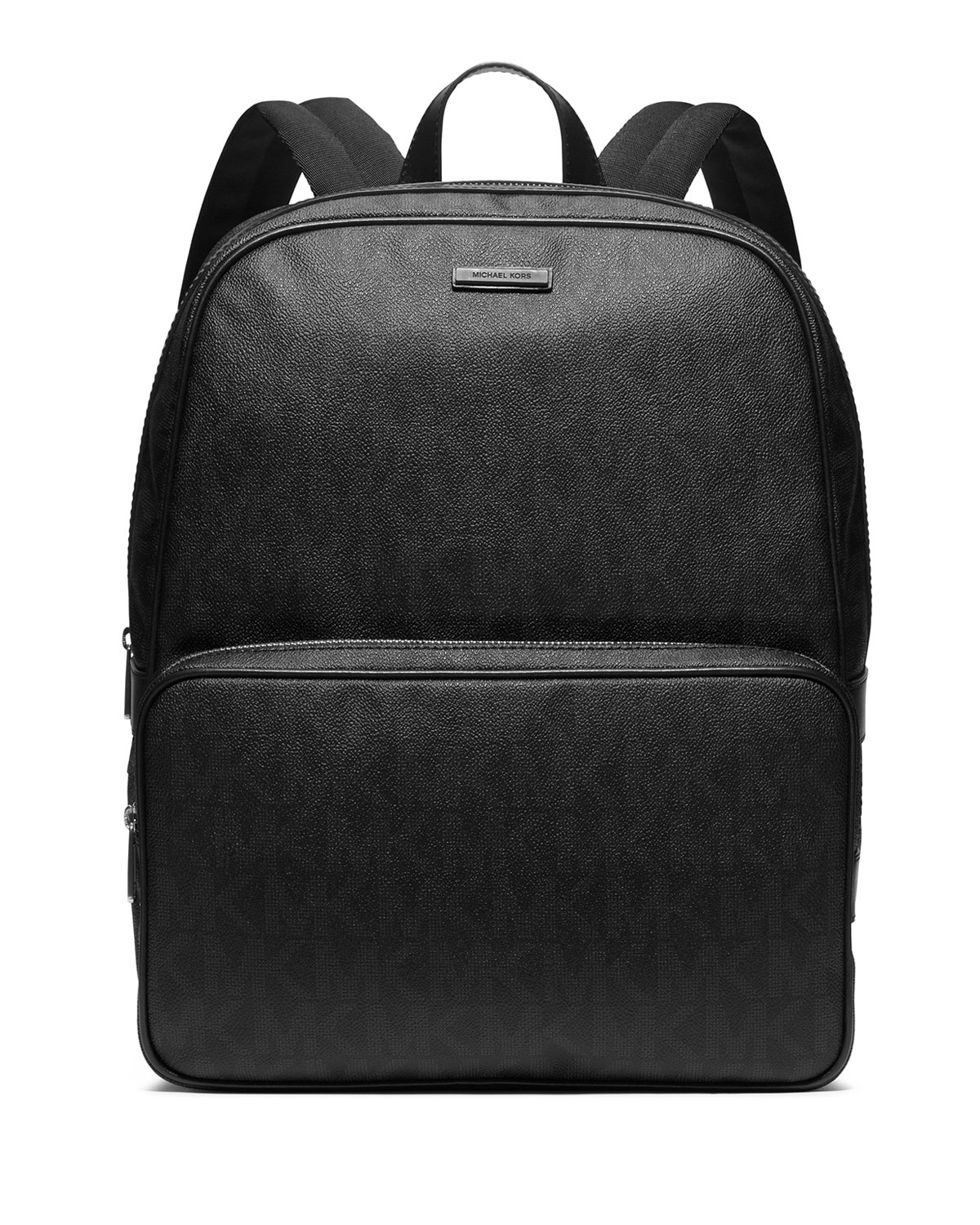 Michael kors Logo-Print Faux-Leather Backpack in Black for Men | Lyst