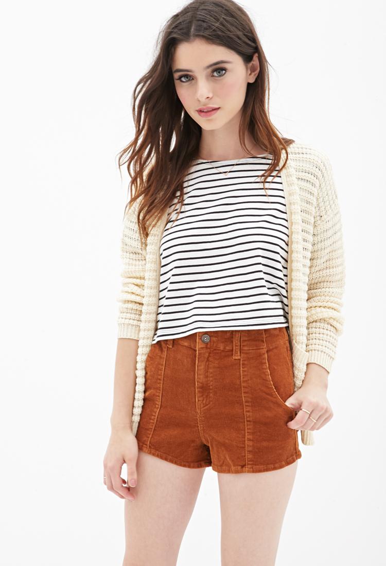 High Waisted Brown Shorts - The Else