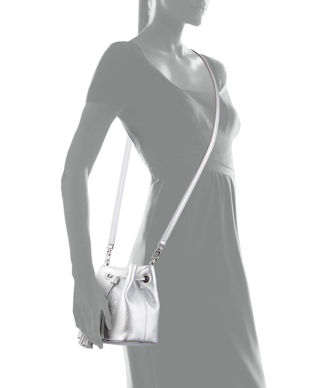 ffebff0c5855 Lyst - Tory Burch Thea Mini Crossbody Bucket Bag in Metallic