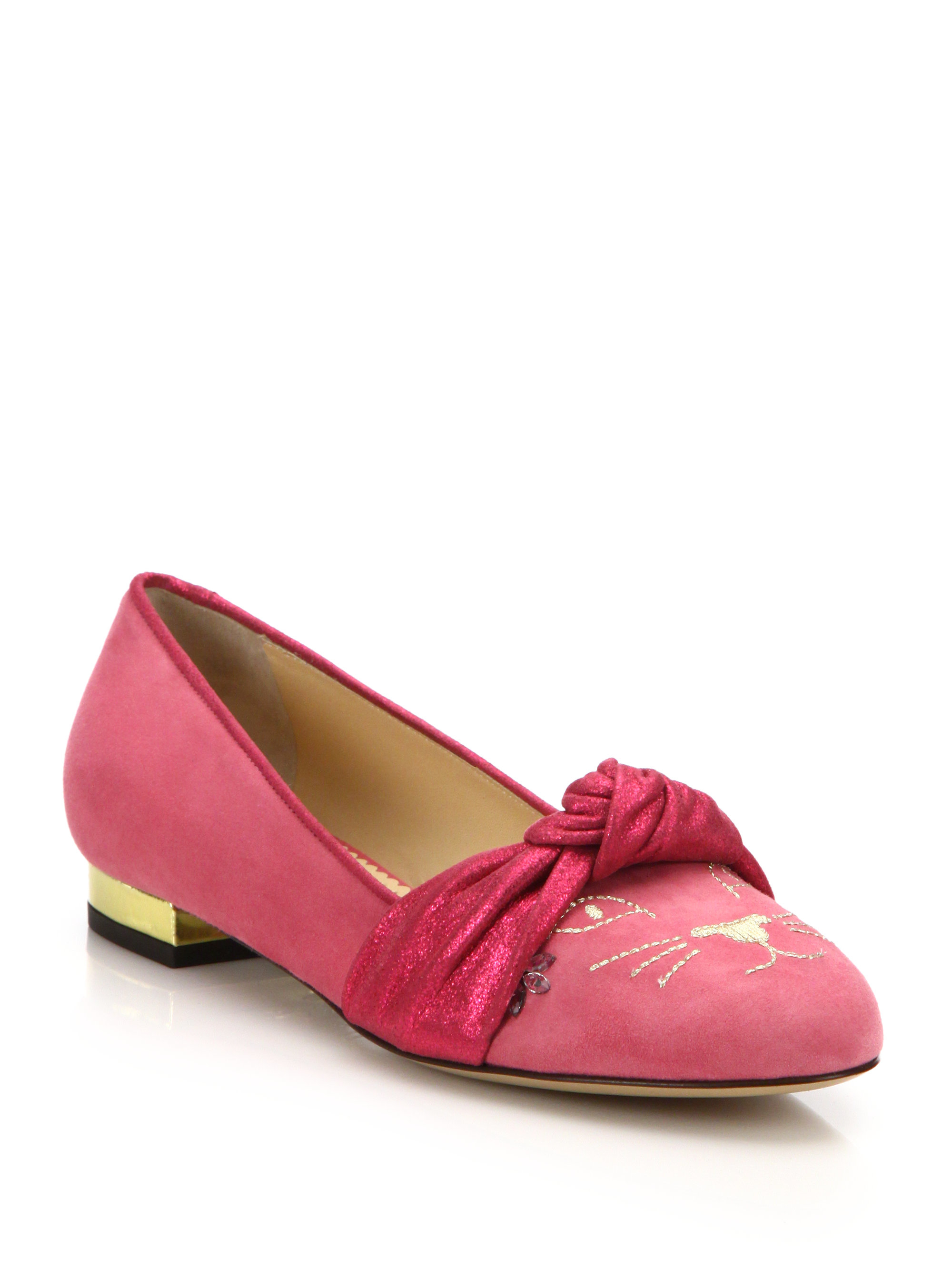 buy cheap footaction Charlotte Olympia Suede Kitty Loafers cheap sale 2014 new i7Xq1