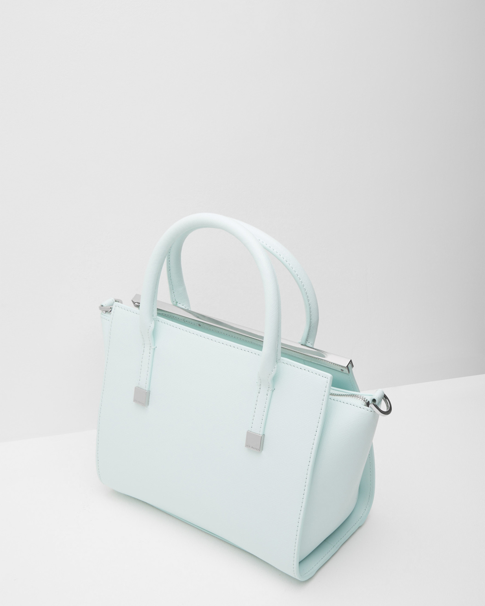 Ted baker Crosshatch Leather Tote Bag in Green | Lyst