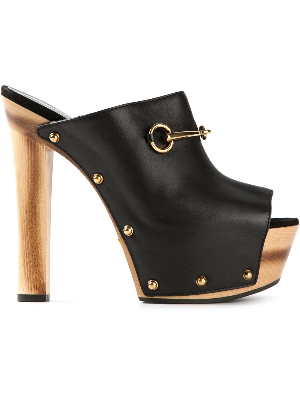 Gucci Platform Mules In Black Lyst