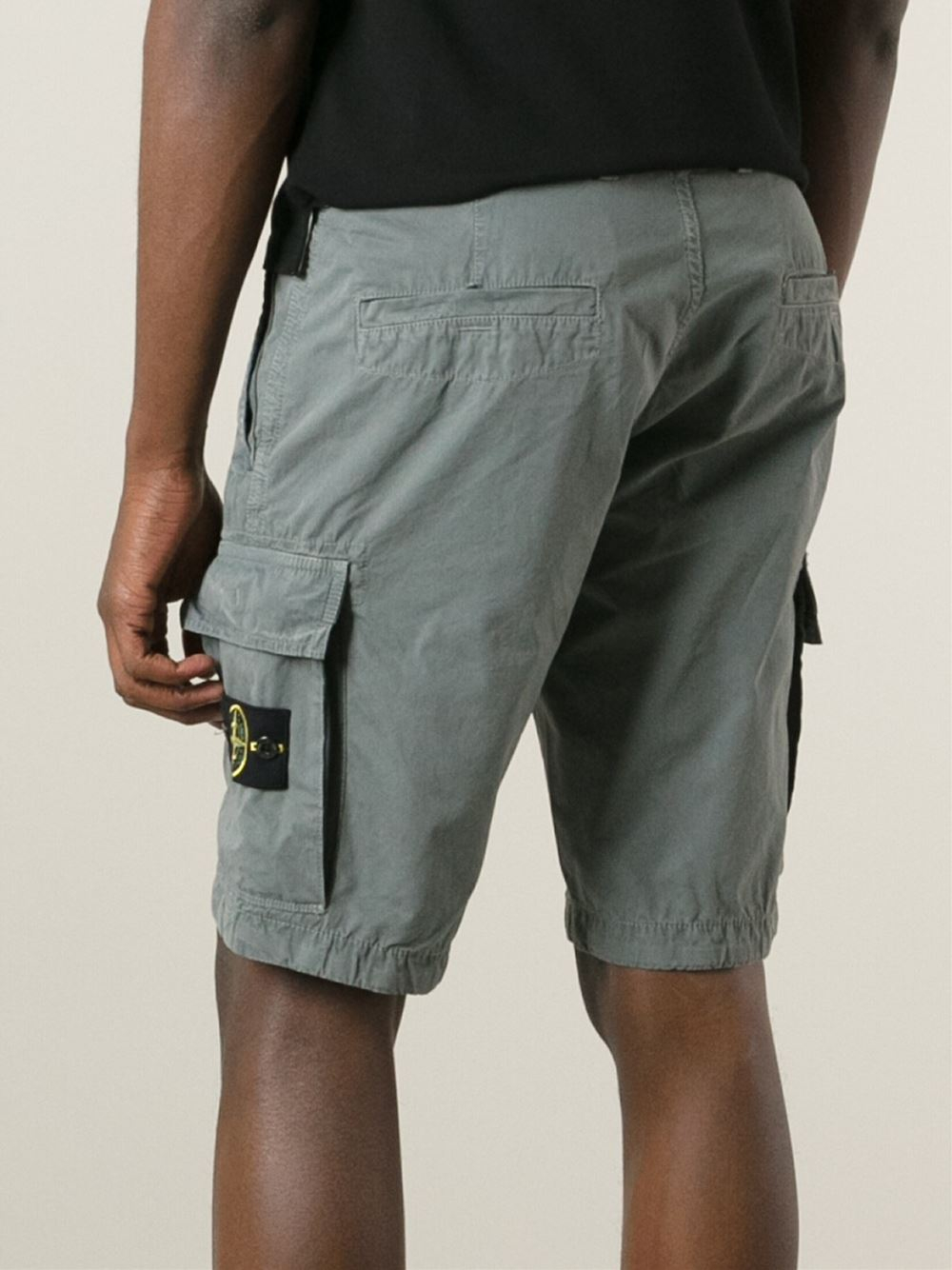 Stone island Cargo Shorts in Gray for Men | Lyst