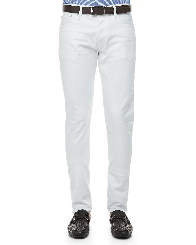 ralph lauren black label slim fit denim jeans in white for. Black Bedroom Furniture Sets. Home Design Ideas