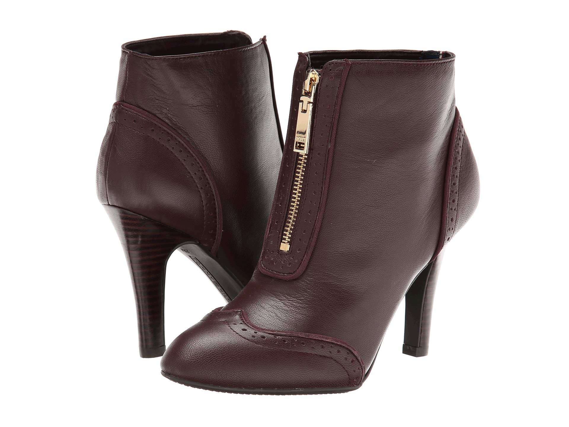 tommy hilfiger oxley ankle boots in purple lyst. Black Bedroom Furniture Sets. Home Design Ideas