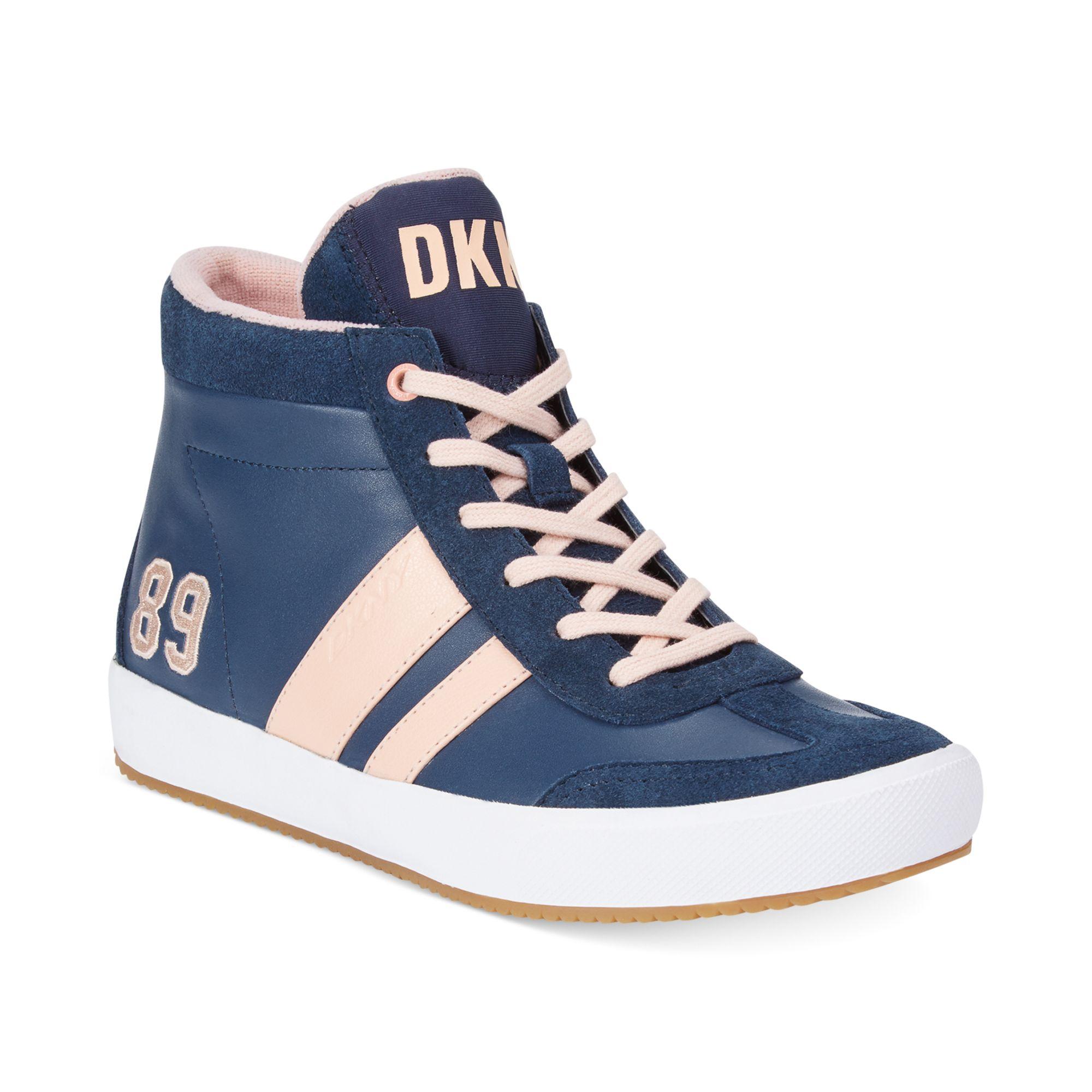 Lyst Dkny Kooper High Top Sneakers In Blue