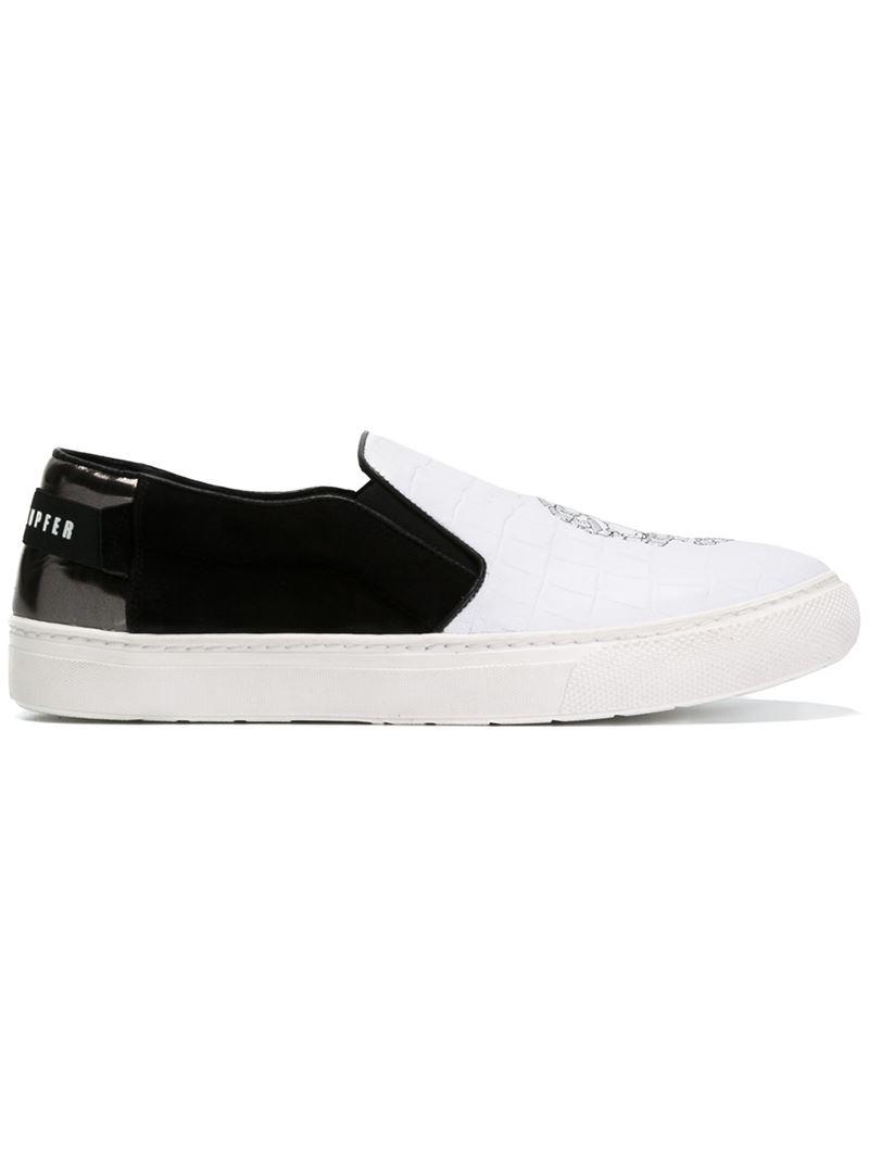 Best -selling Mens Markus Lupfer Skull Slip-On Sneakers Shops