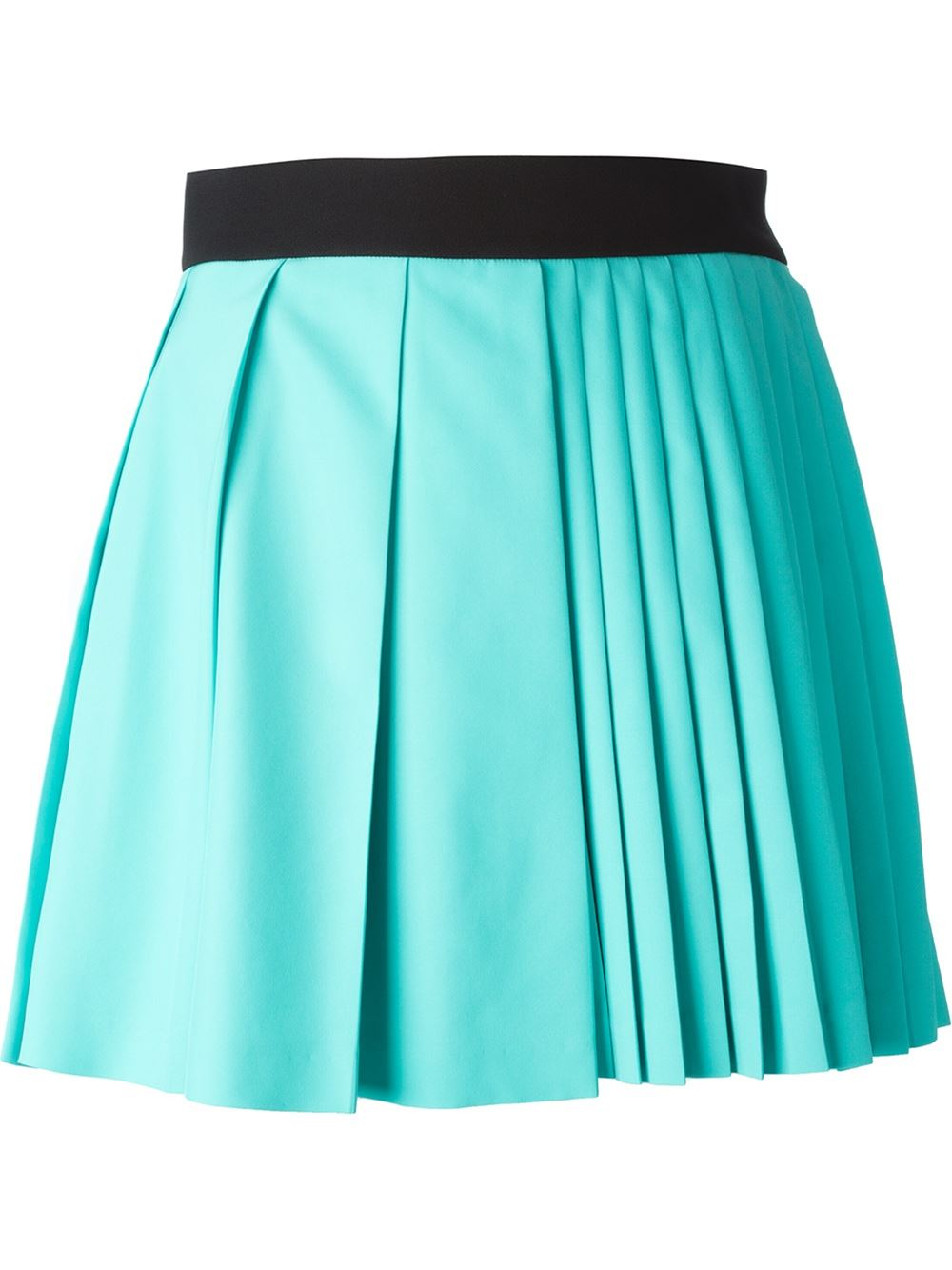 fausto puglisi pleated skirt in blue lyst