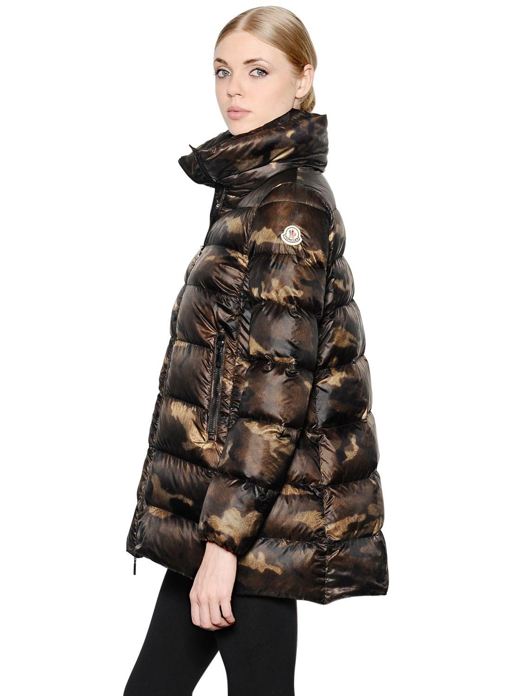 moncler camo jacket womens