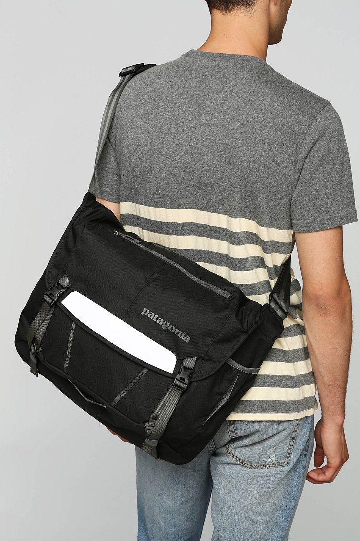 Lyst - Patagonia Half Mass Messenger Backpack in Black for Men a77d1c1ccfcf0