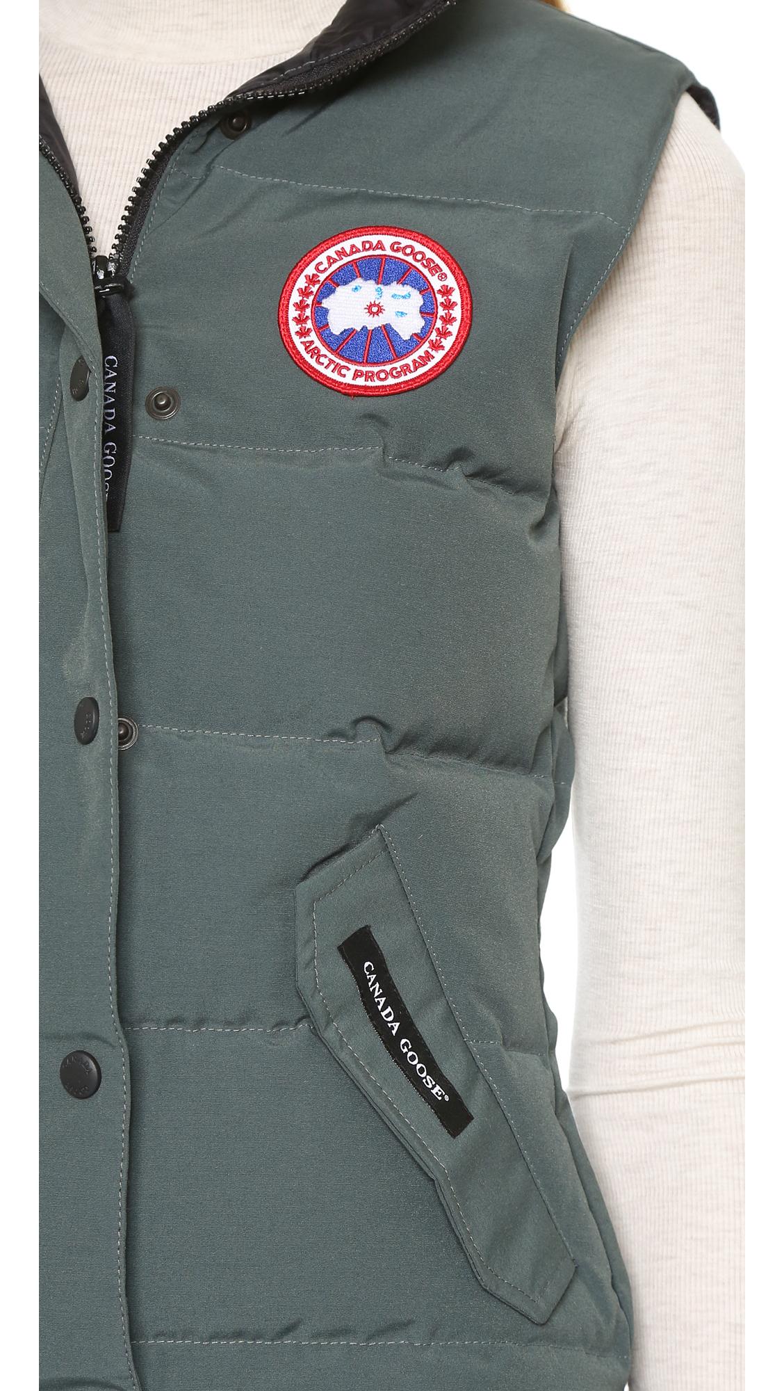 Canada Goose trillium parka sale discounts - Canada goose Freestyle Vest in Gray (Slate) | Lyst