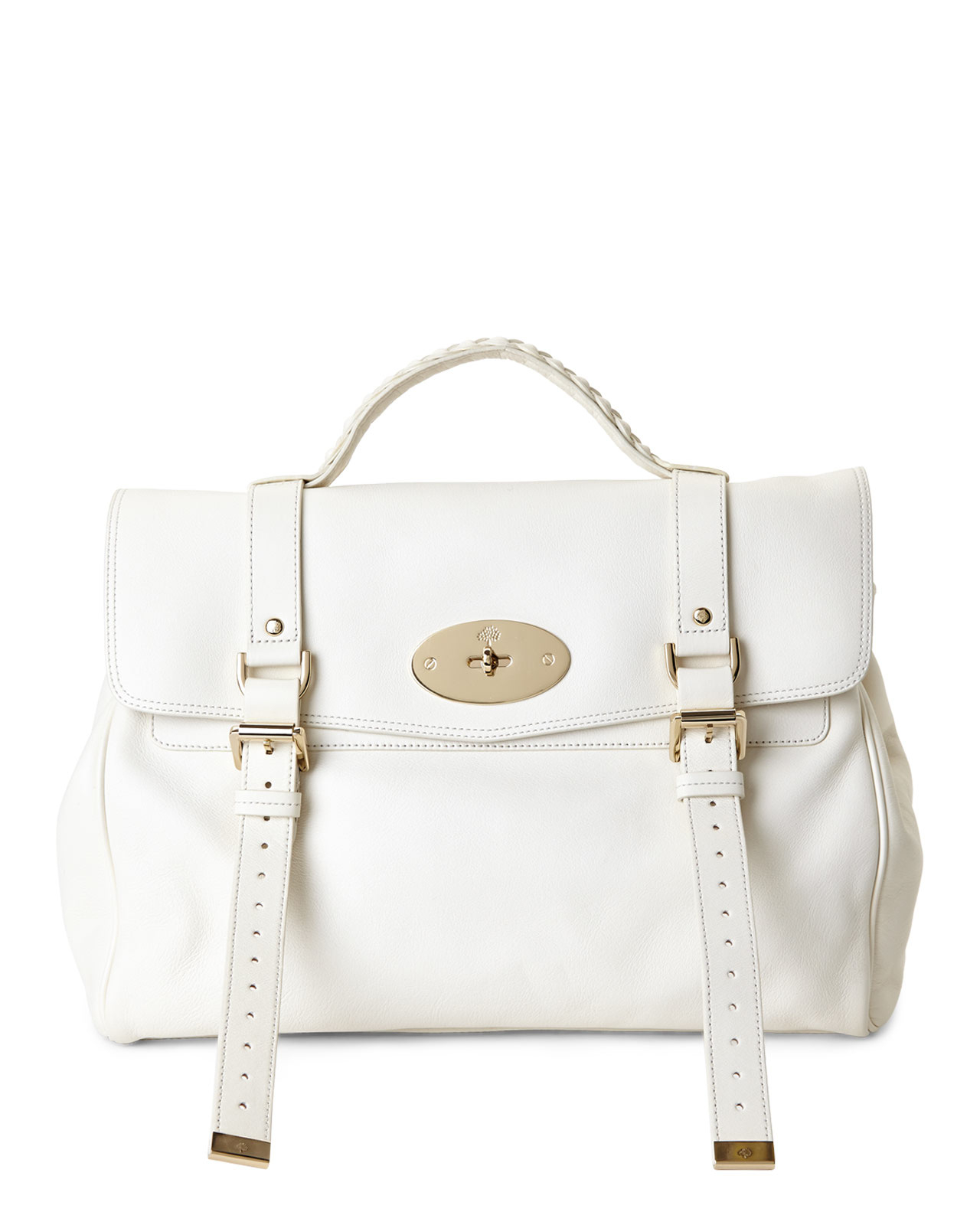 5dba48644b Lyst - Mulberry Cream Oversized Alexa Handbag in White