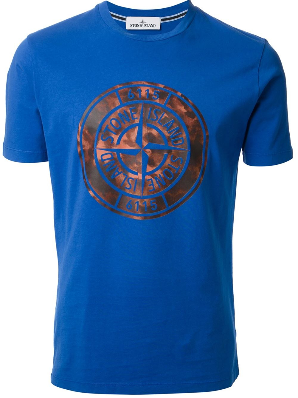 stone island logo t shirt in blue for men lyst. Black Bedroom Furniture Sets. Home Design Ideas