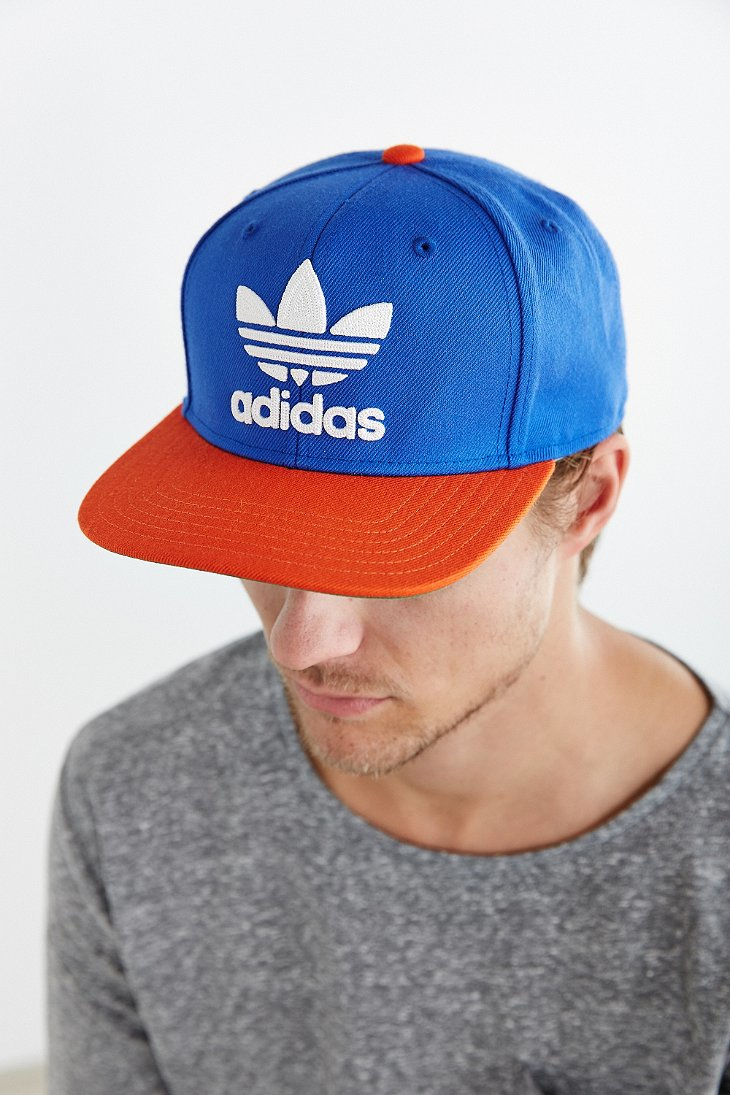 Lyst - adidas Originals Originals Trefoil Snapback Hat in Blue for Men 66f652f75b9