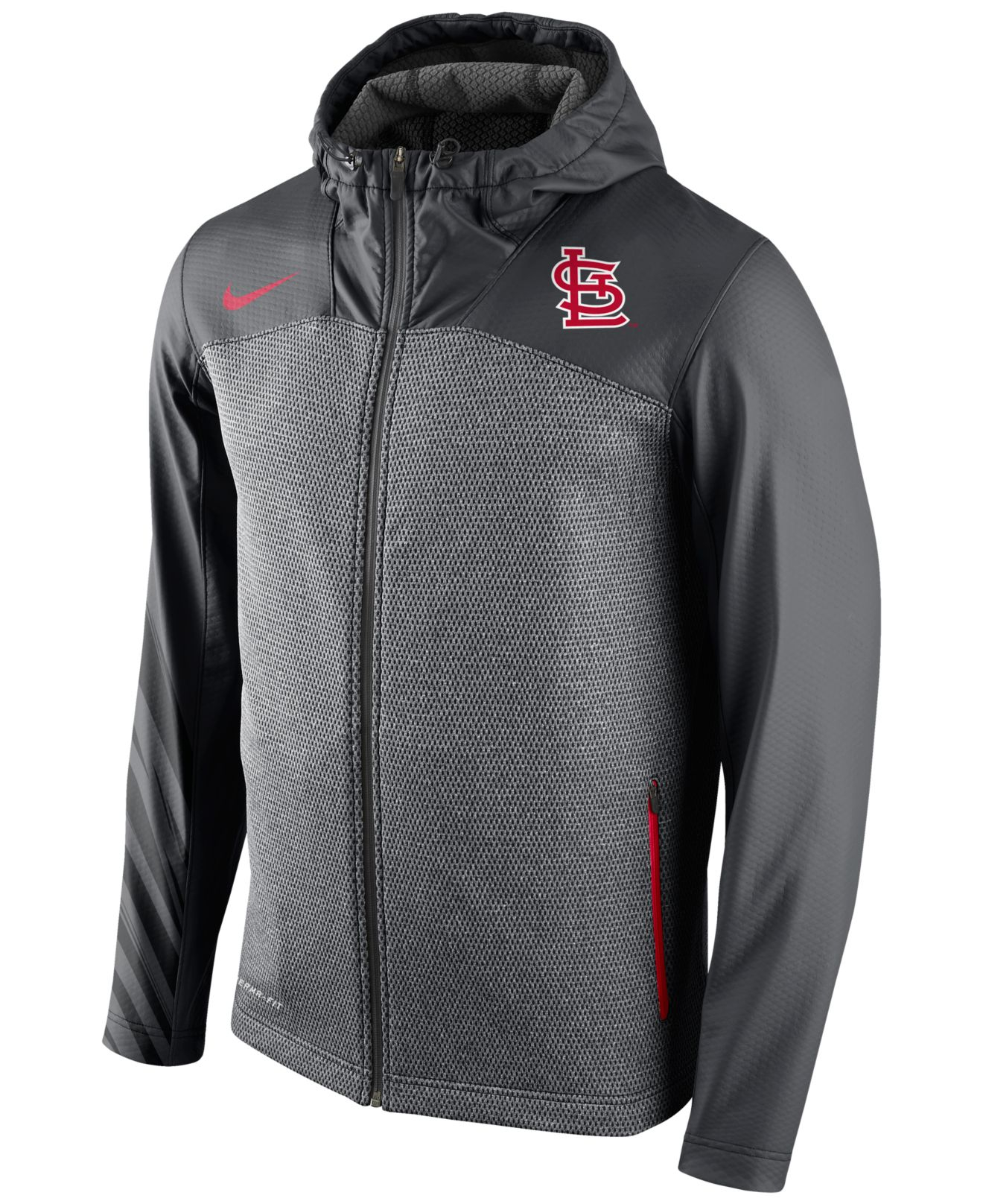 Nike Men's St. Louis Cardinals Speed Chain Shield Hoodie in Gray ...