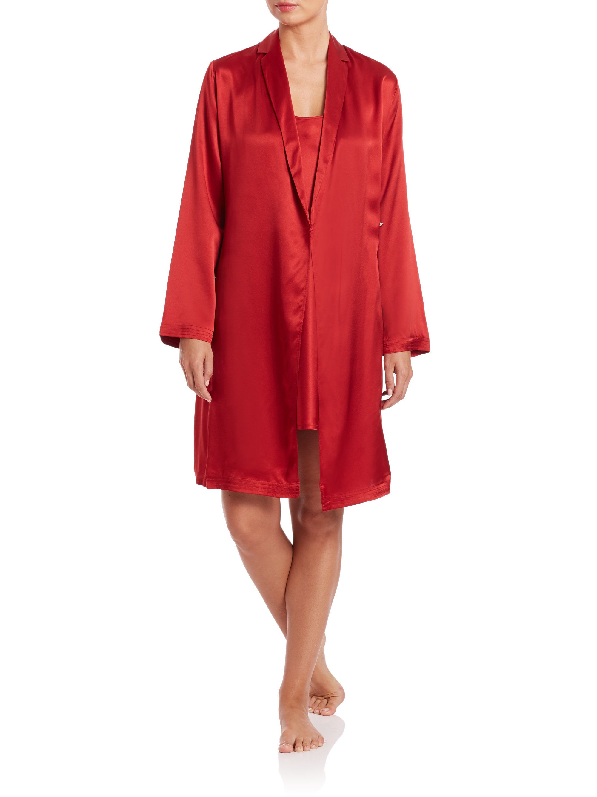 Red Satin Robes, Bridesmaid Robes, Red Wedding Robes on ... |Red Silk Robe