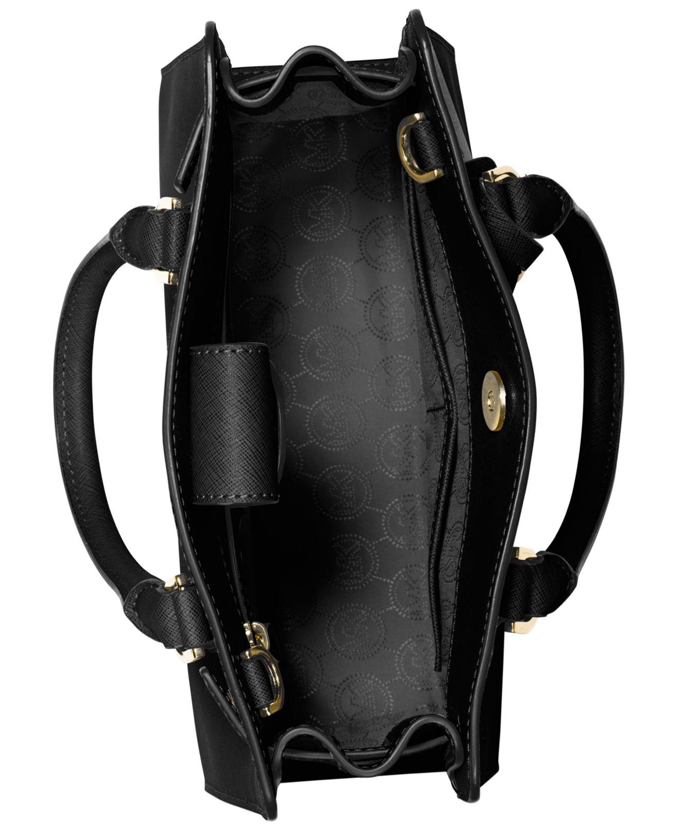 81f5378a965e ... clearance lyst michael kors michael dillon small satchel in black b97a4  6a9d7