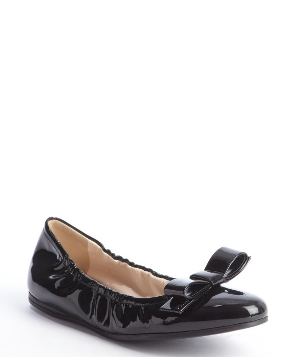 Prada Patent Leather Bow Flats limited edition cheap price discount pay with visa cheap sale official cheap prices biPNdl
