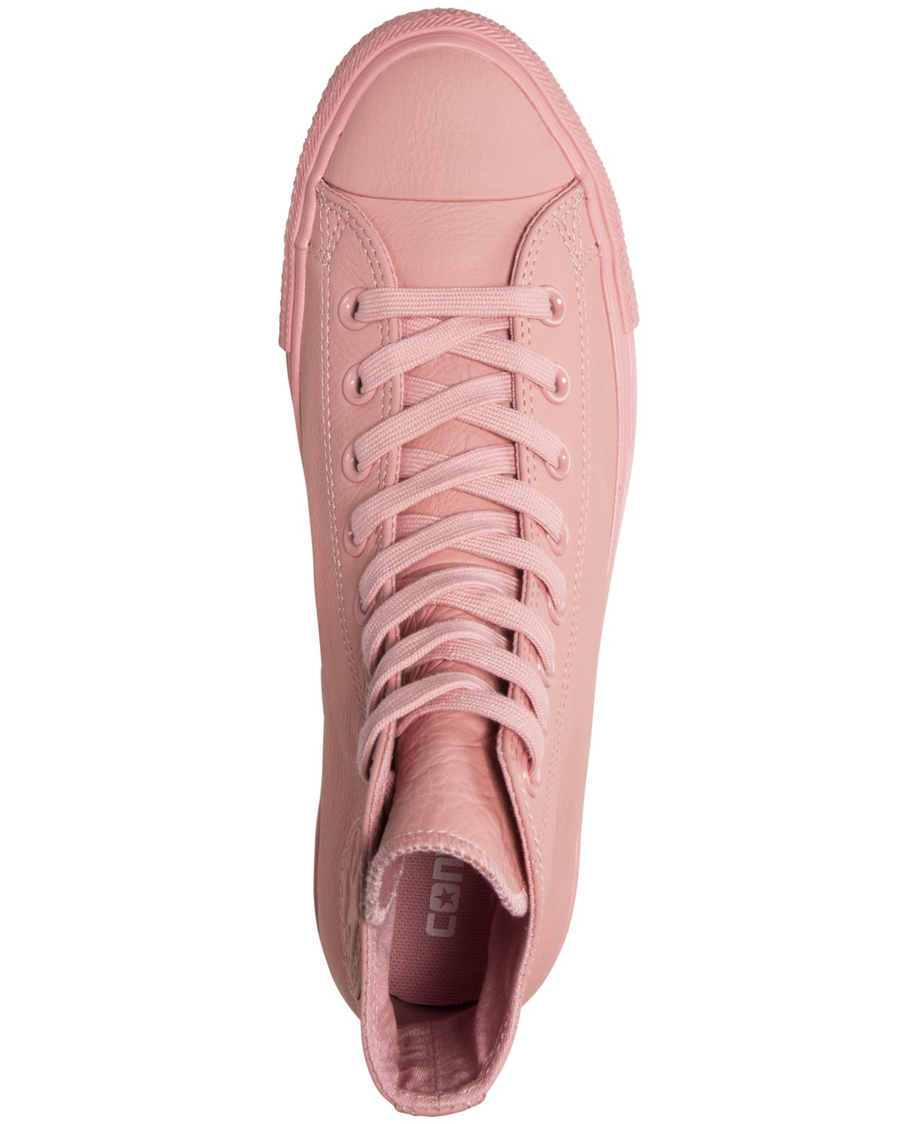 Lyst - Converse Women s Chuck Taylor Hi Pastel Leather Casual ... 2659f6388