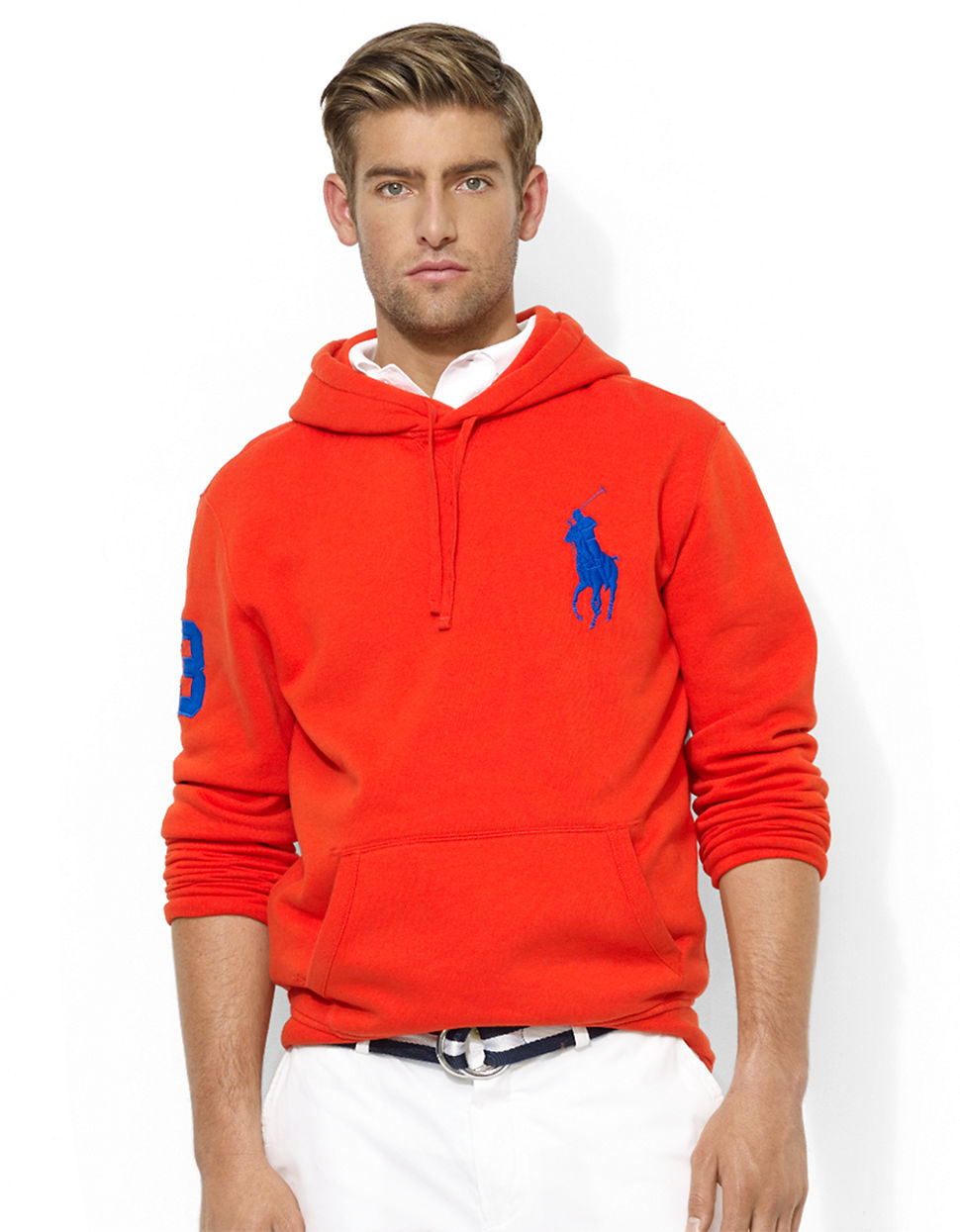 polo ralph lauren big pony beach fleece pullover hoodie