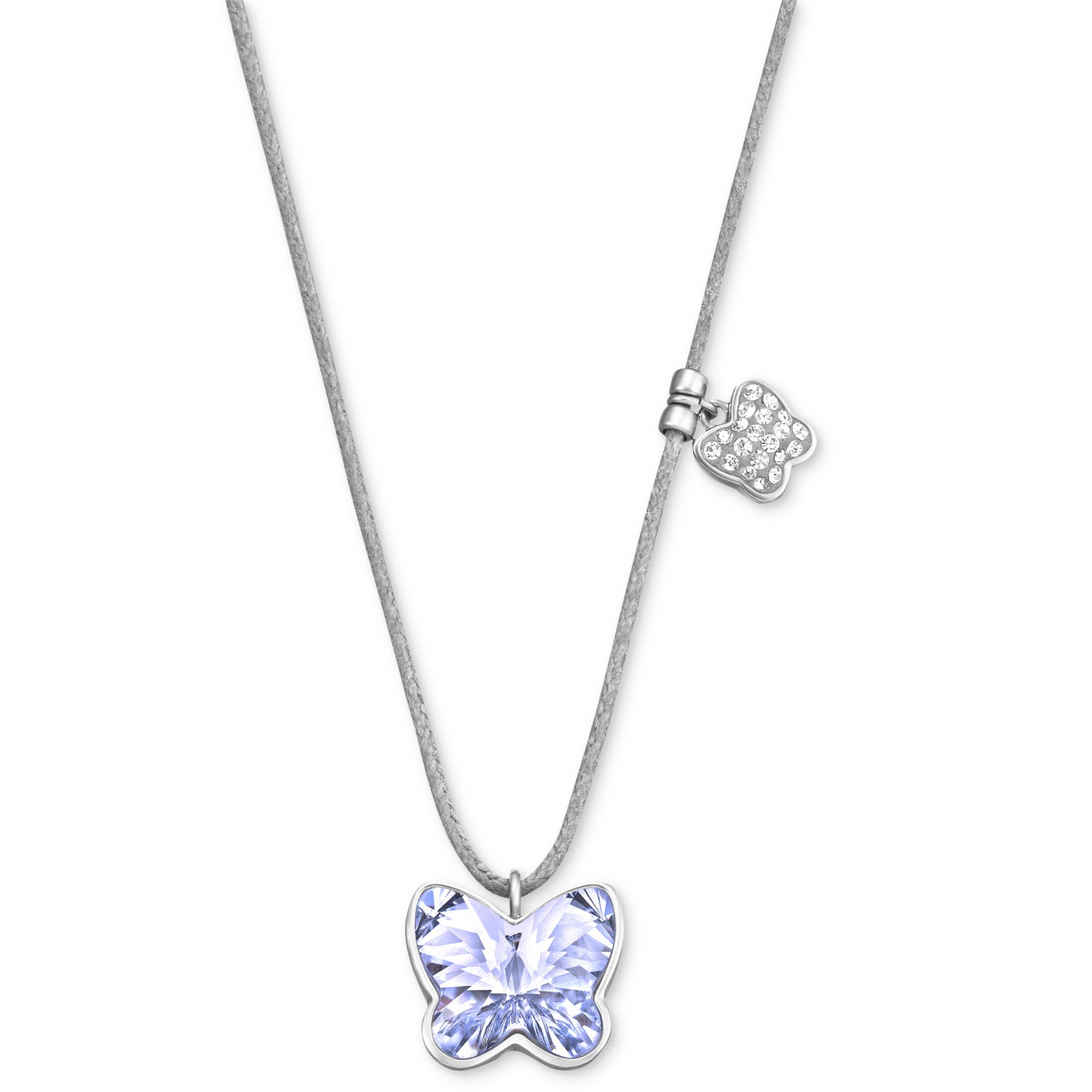Lyst swarovski rhodiumplated provence lavender butterfly crystal gallery mozeypictures Images