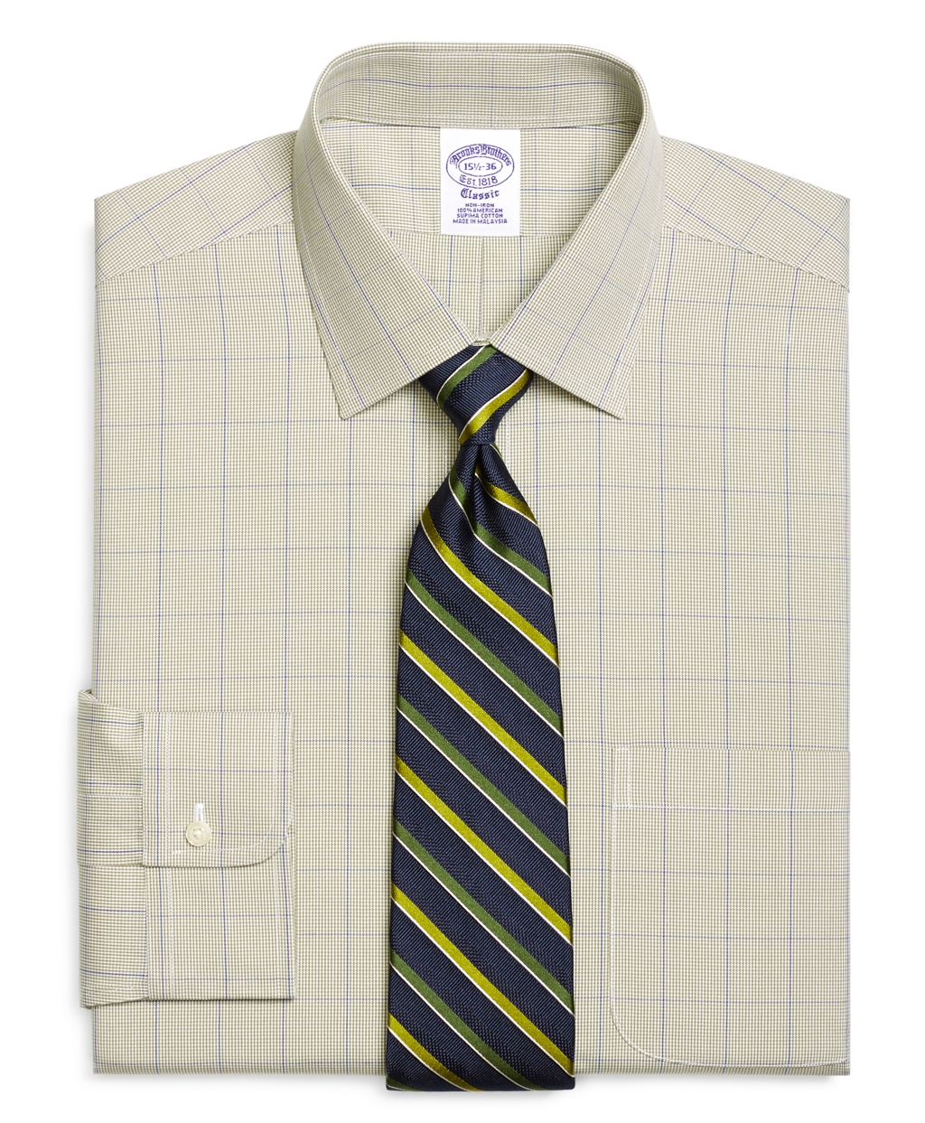 Brooks Brothers Noniron Traditional Fit Houndstooth
