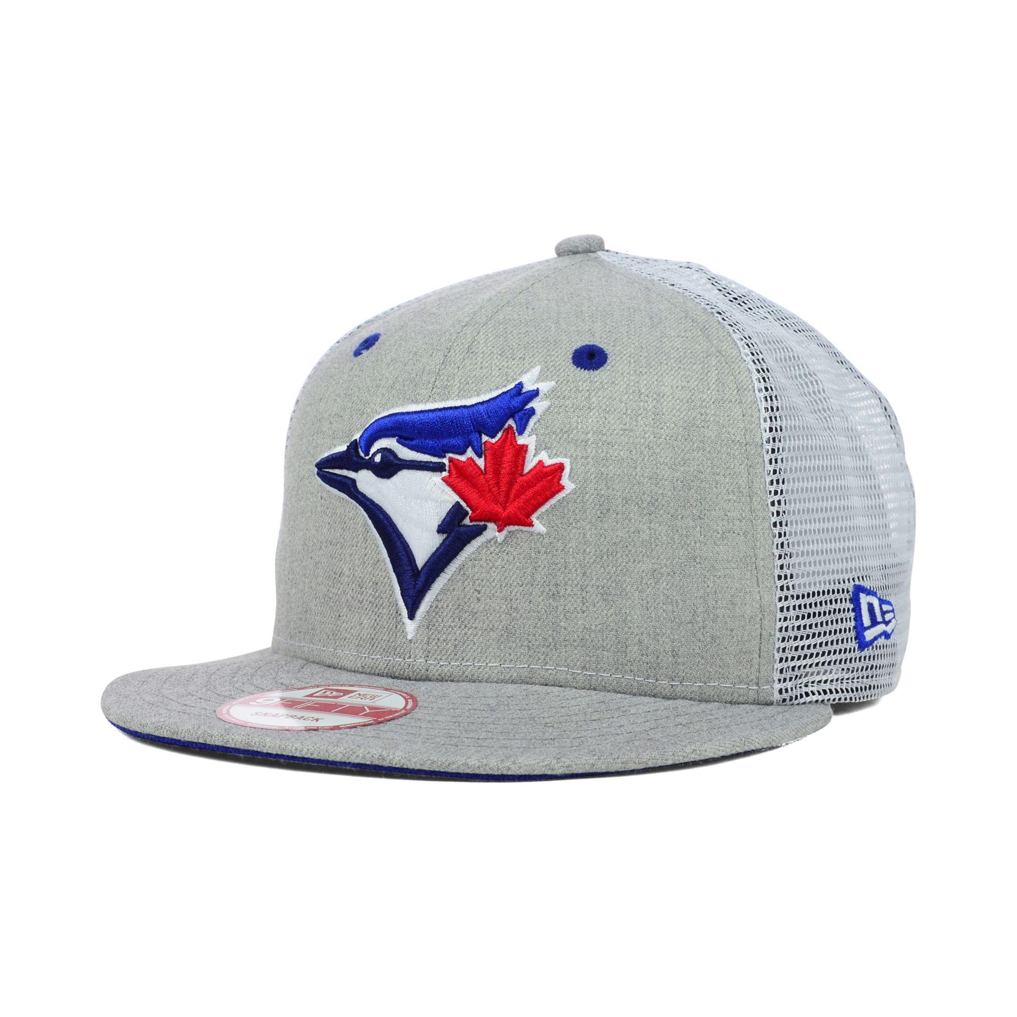 8fbbdbb484a Lyst - KTZ Toronto Blue Jays Heather Trucker 9fifty Snapback Cap in ...