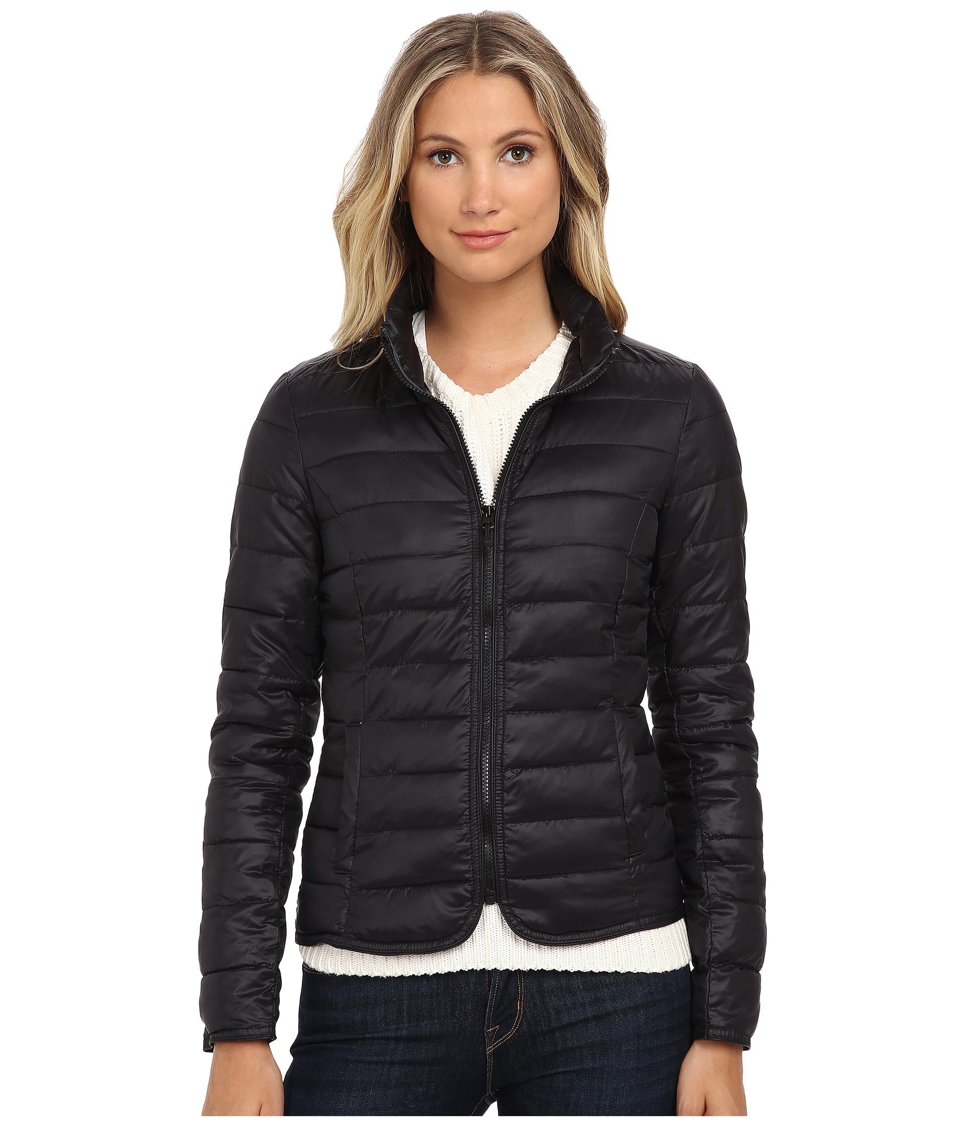 lyst only tahoe nylon contrast jacket in black