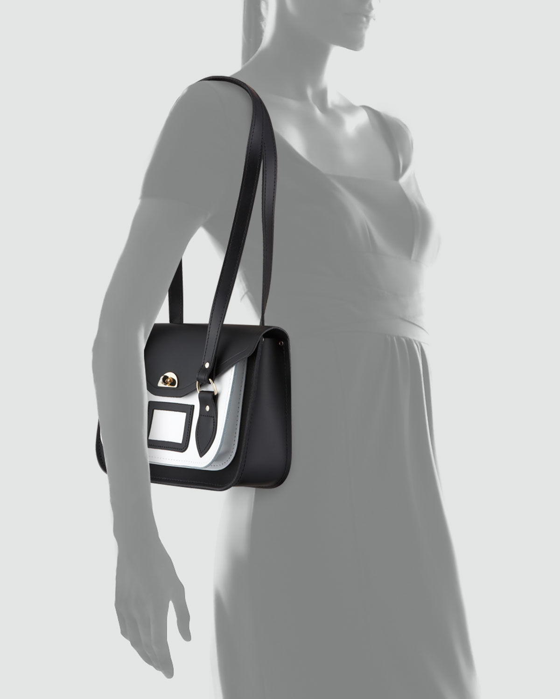 green prada handbag - Cambridge satchel company Medium Bicolor Leather Shoulder Bag ...