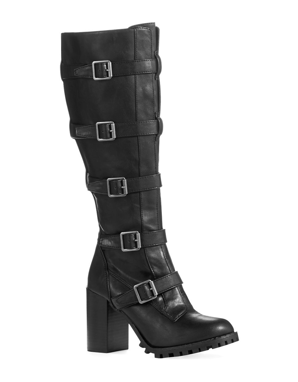 report signature anabelle knee high boots in black lyst