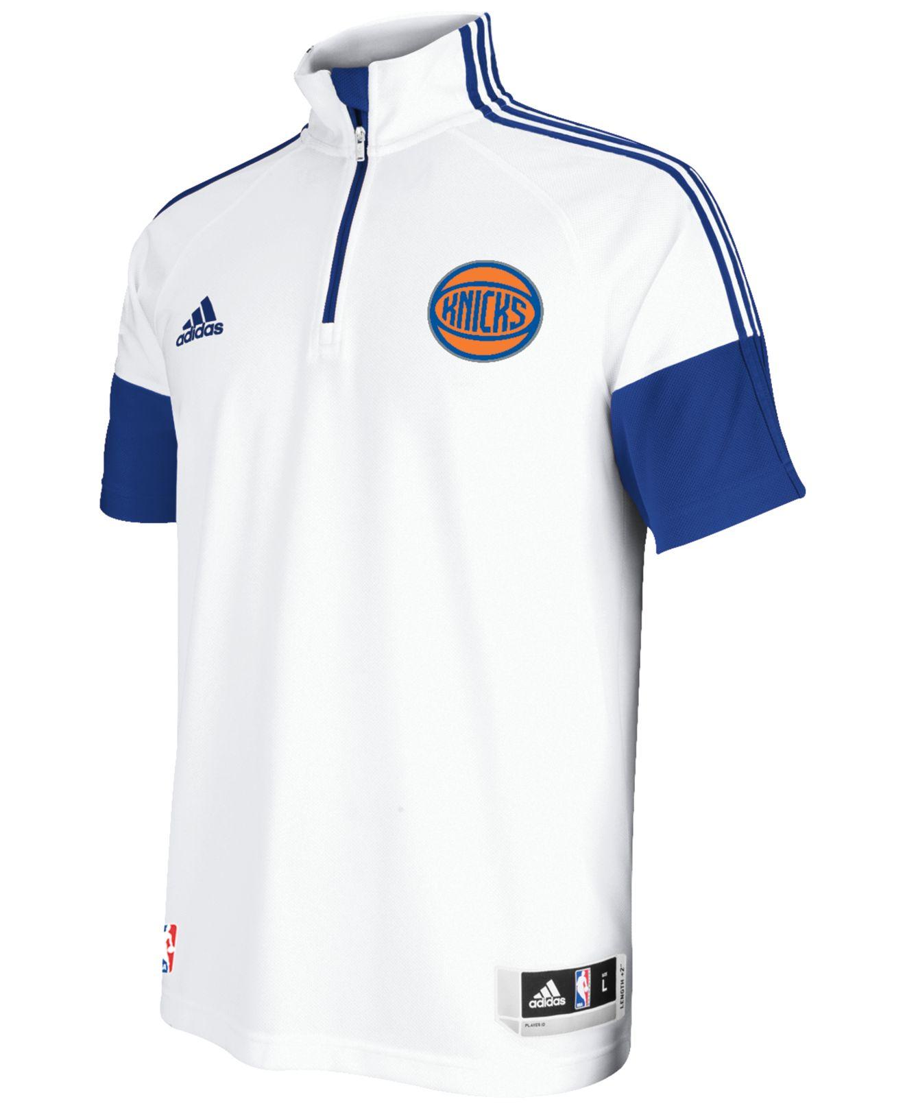 471cb4e75 Lyst - adidas Men s New York Knicks Game Time Shooting Shirt in ...