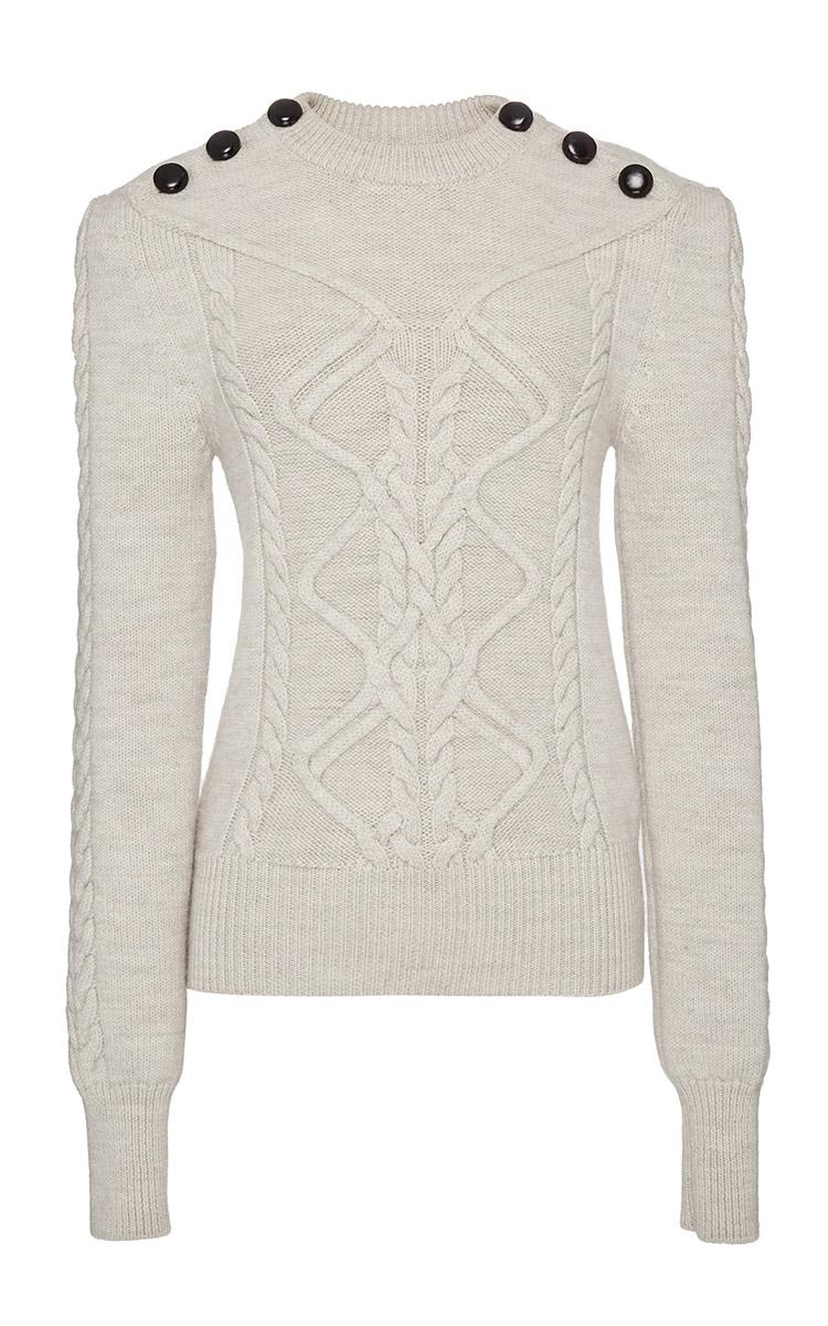 isabel marant ecru zermatt knit dustin pullover in natural lyst. Black Bedroom Furniture Sets. Home Design Ideas