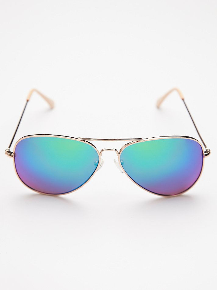4e1790db9047 Lyst - Free People Womens Top Gun Aviator Sunglass in Blue