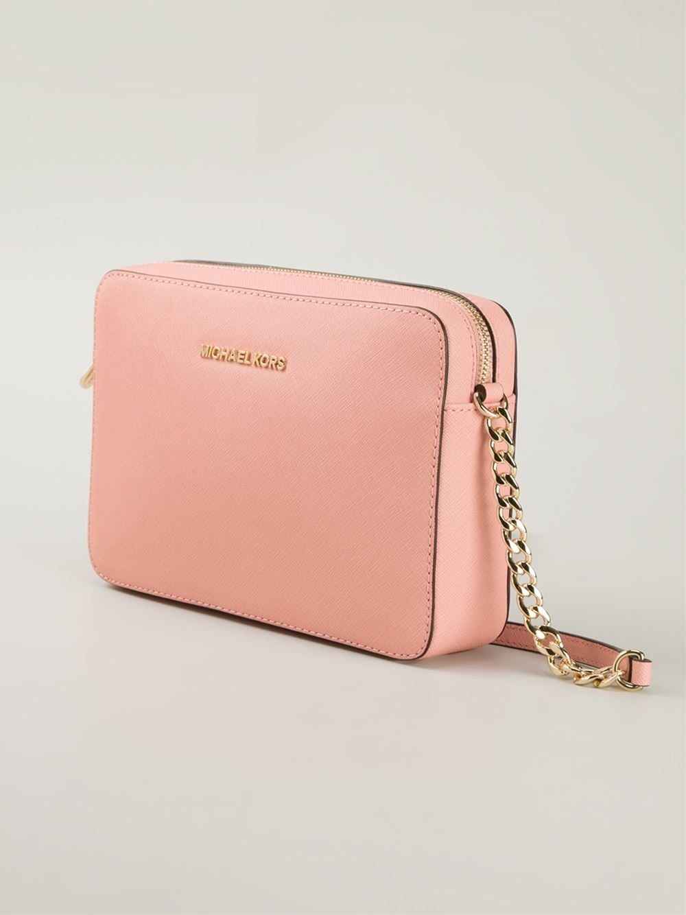 a77c3d2c123325 MICHAEL Michael Kors Jet Set Travel Cross-Body Bag in Pink - Lyst