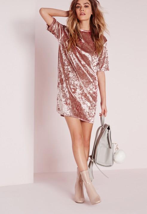Velvet T-Shirt Dresses