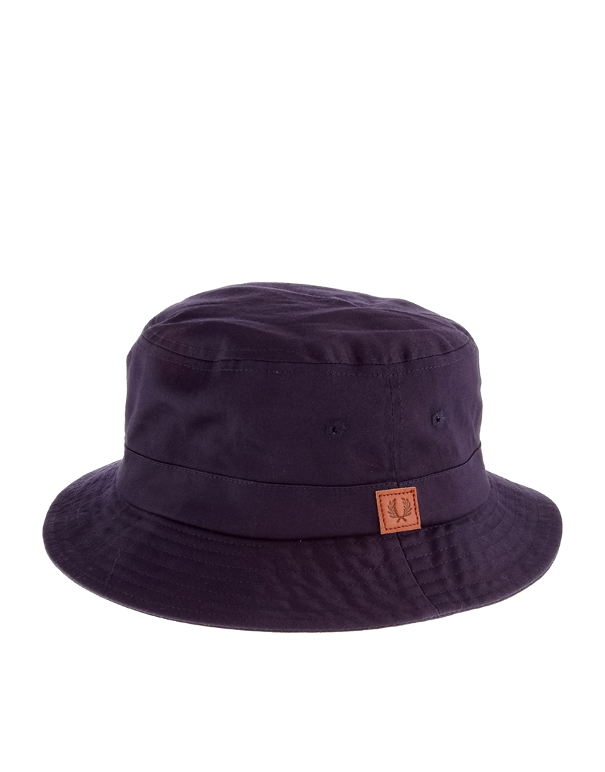 88f9f8e8ad8 Lyst - Fred Perry Classic Bucket Hat in Blue for Men