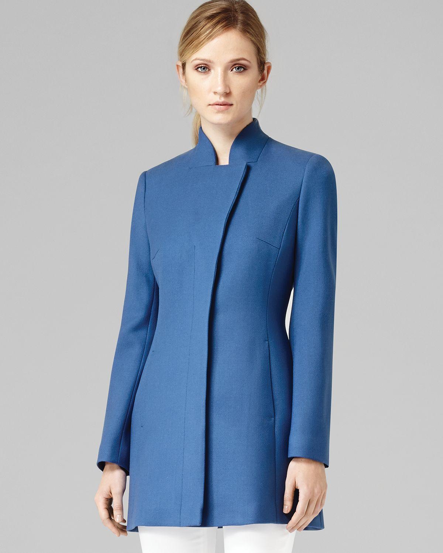 Mandarin collar jacket women