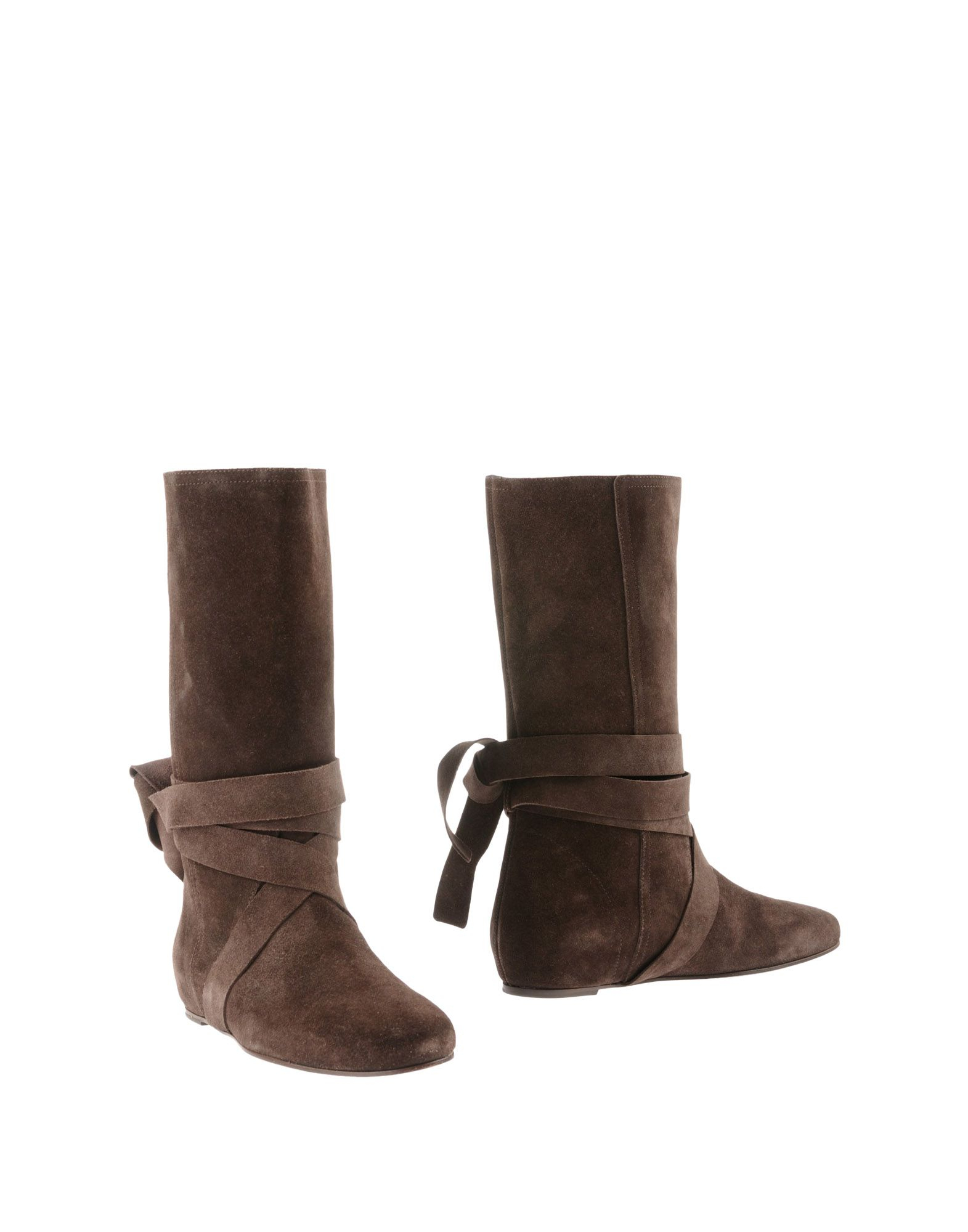 michael kors boots in brown lyst