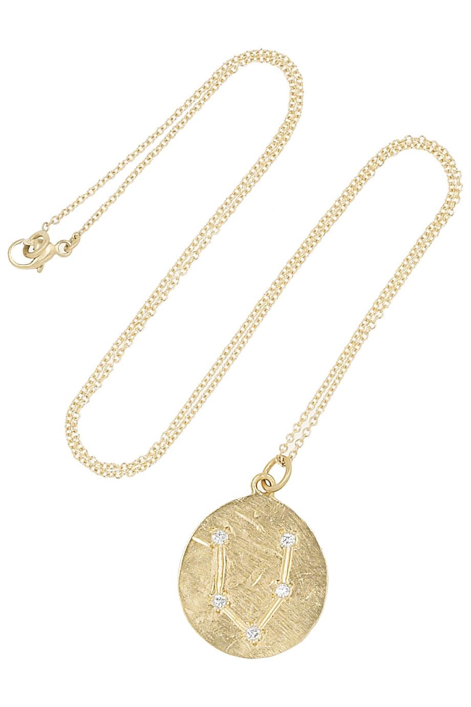 Taurus 14-karat Gold Diamond Necklace - one size Brooke Gregson chg65W